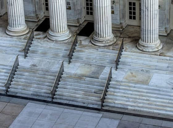 courthouse steps.